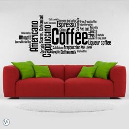 Vinilo Tipográfico - Coffee diseños TI.05